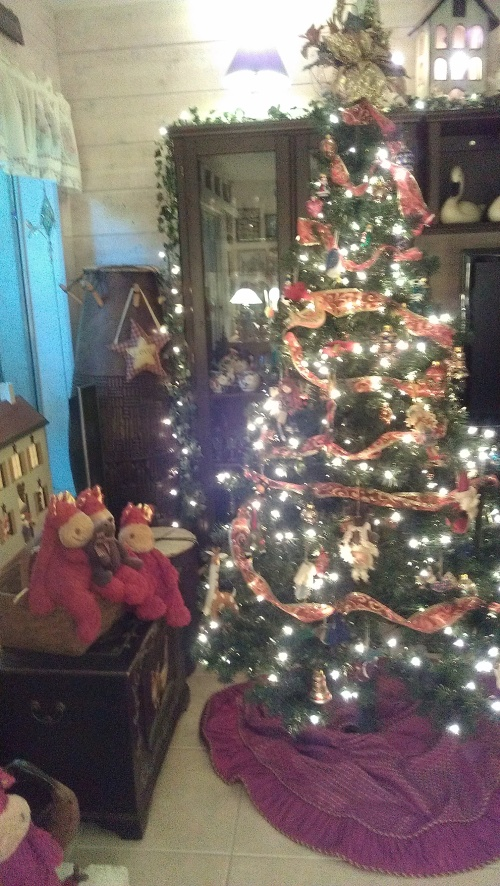 Magic Dragons watching over our tree.