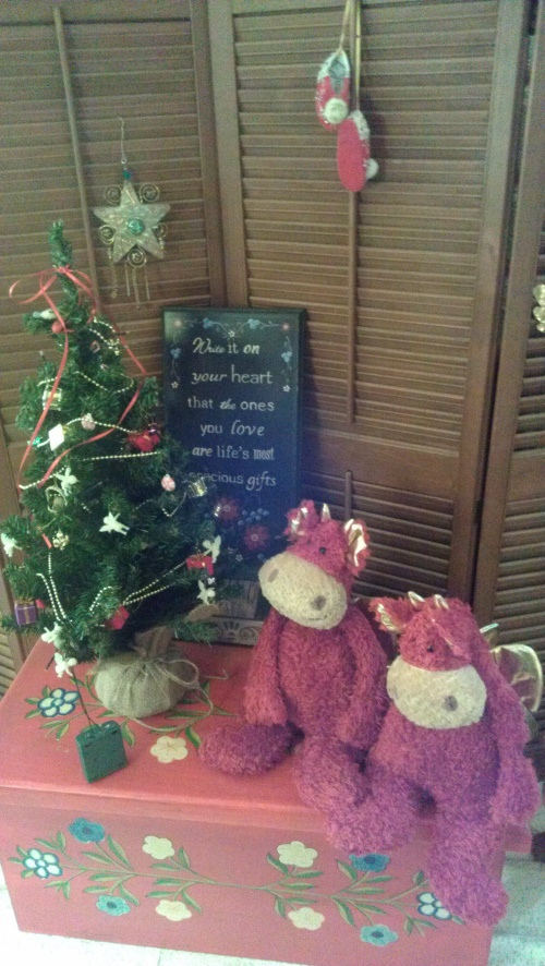 Magic Dragons Watching Over Their Own Tree. .