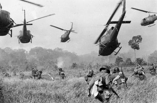 Army helicopters in Vietnam